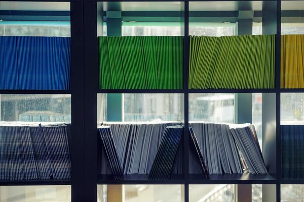 Veröffentlichungsreihen mit farbigen Buchrücken