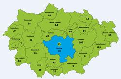 zweidimensionale räumliche Darstellung des Landkreises